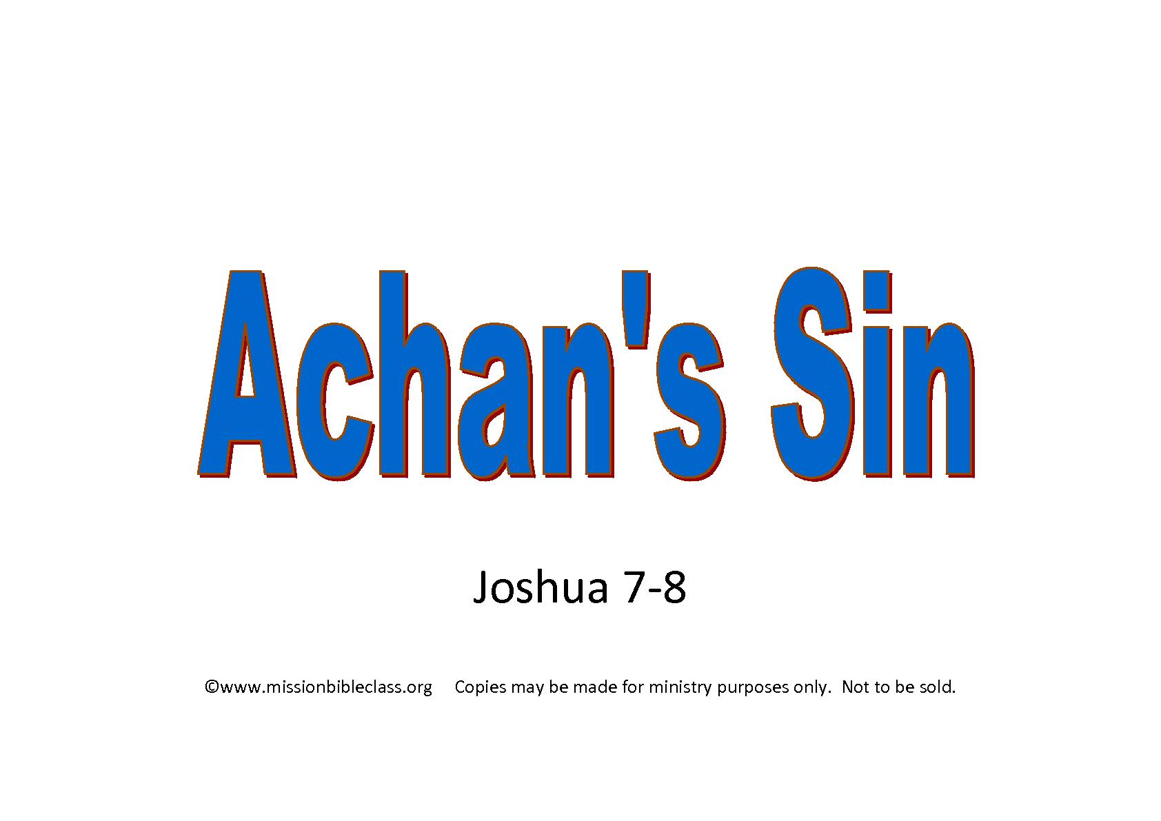 Achans Sin Flip Chart Cover