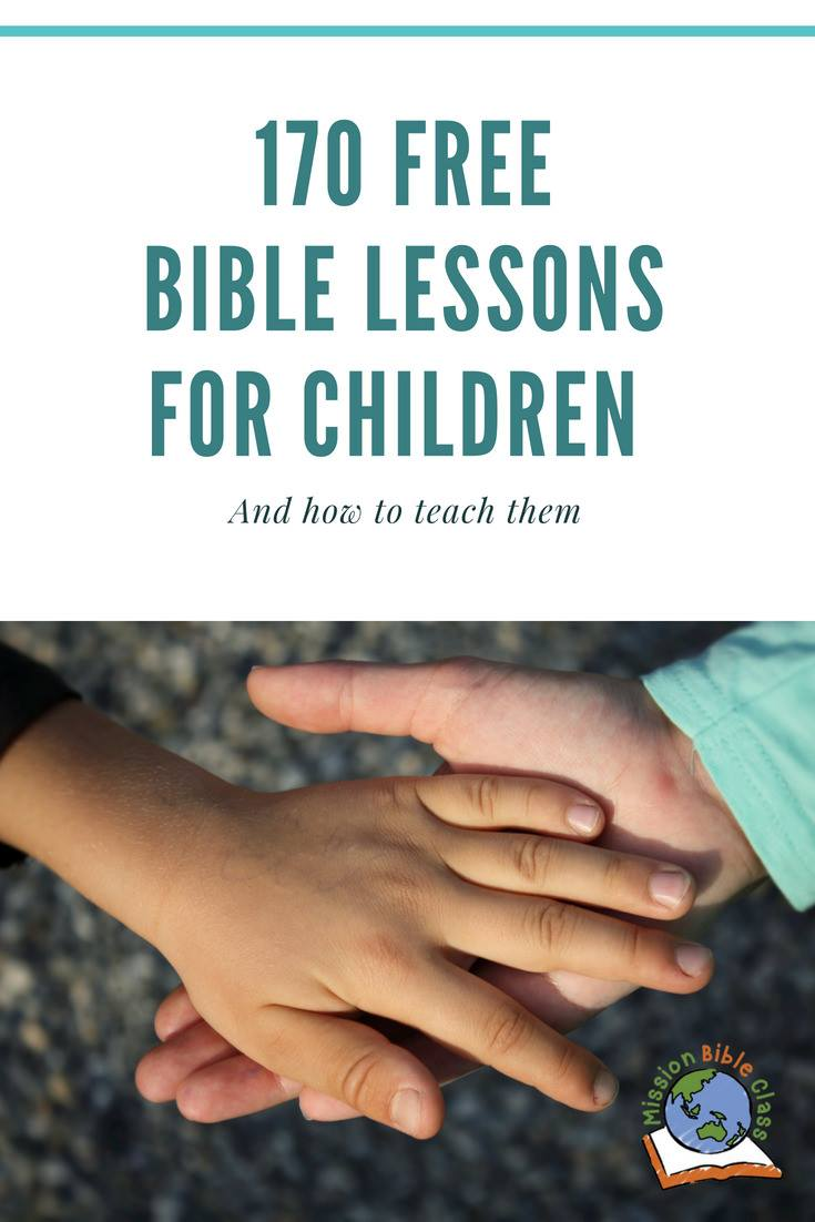170 Free Bible Lessons for Children