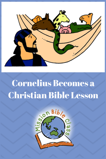 Cornelius Becomes a Christian Pin
