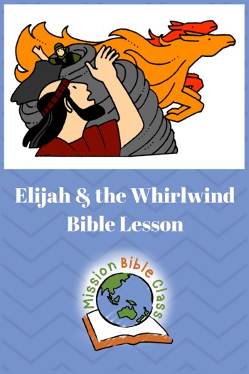 Elijah and the Whirlwind Pin