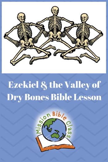 Ezekiel and the Valley of Dry Bones Pin