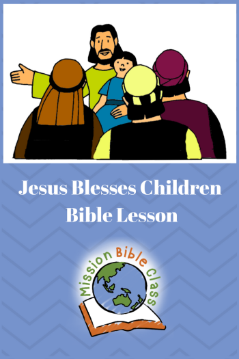 Jesus Blesses the Children Pin