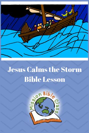 Jesus Calms the Storm Pin