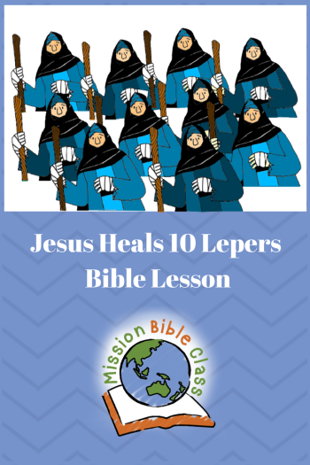 Jesus Heals Ten Lepers Pin