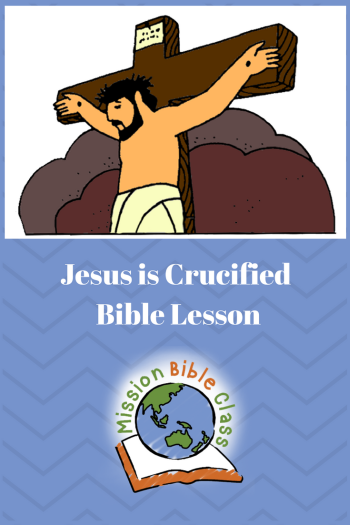 Jesus is Crucified Pin