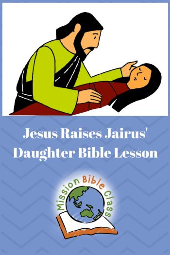 Jesus Raises Jairus_ Daughter Pin