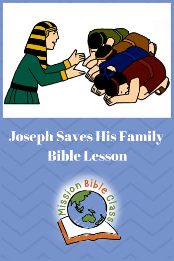Joseph Saves His Family Pin