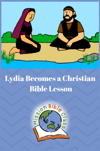 Lydia Becomes a Christian Pin