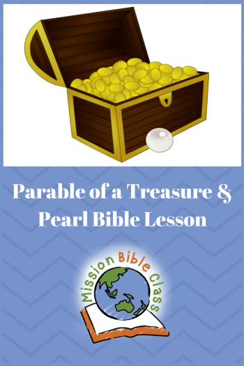 Parable of a Hidden Treasure and Valuable Pearl Pin