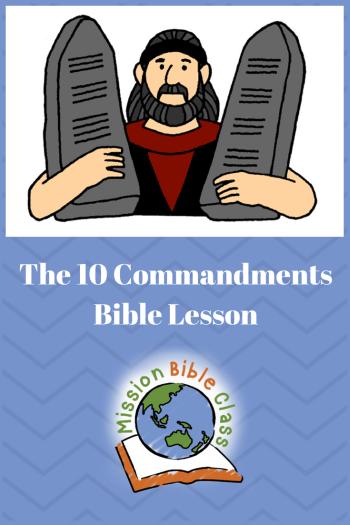 The Ten Commandments Pin
