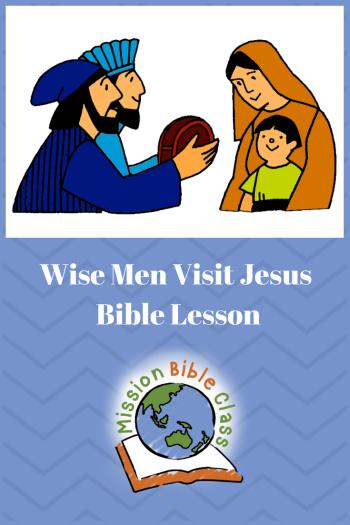 Wise Men Visit Jesus Pin